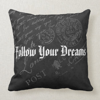 Follow Your Dreams (Personalize Optional) Throw Pillow