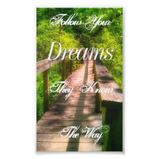 """Follow Your Dreams"" Quote Print"