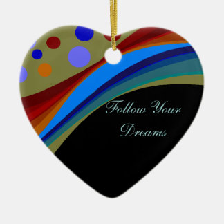 Follow Your Dreams Rainbows and Circles Ornament