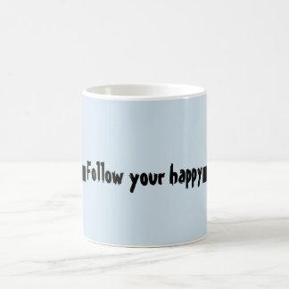 Follow your happy Quote Coffee Mug
