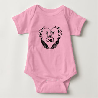 Follow your heart baby bodysuit