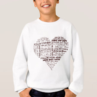 Follow Your Heart Black and White Sweatshirt