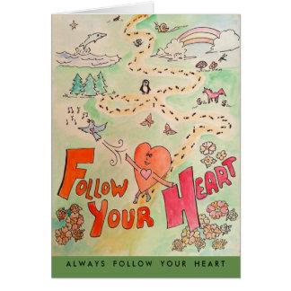Follow Your Heart Card