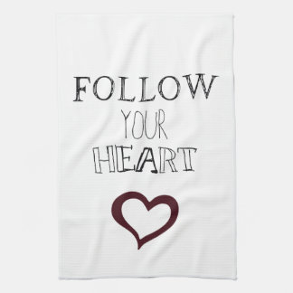 Follow Your Heart Hand Towels