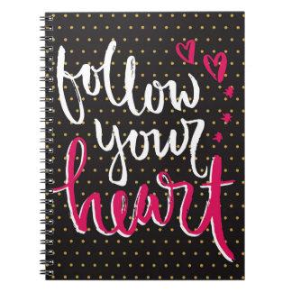 Follow Your Heart Journal for Journaling Notebook