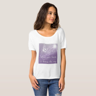 Follow your Heart Ladies Butterfly Tee