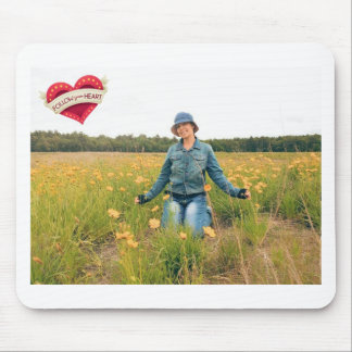 Follow your heart mouse pad