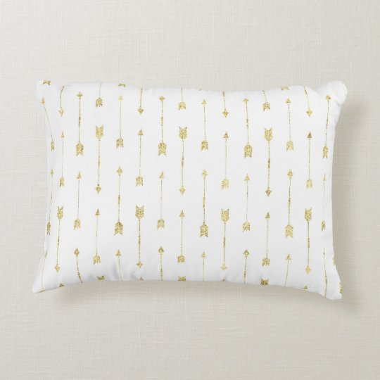Follow Your Heart Pillow with Gold Arrows