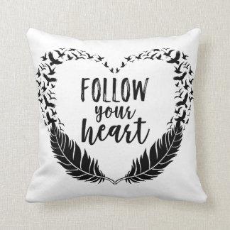 Follow your heart throw pillow
