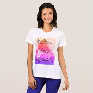 Follow your heart, White women's tshirt