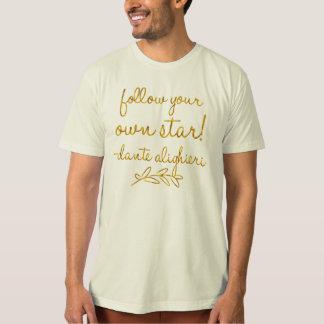 Follow Your Own Star Dante Gold Faux Foil Metallic T-Shirt