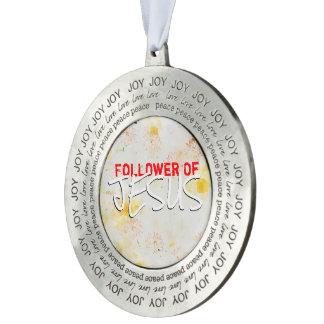 Follower Of JESUS Pewter Ornament