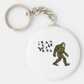 FOLLOWING THE LEADER BASIC ROUND BUTTON KEYCHAIN