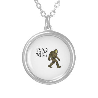 FOLLOWING THE LEADER SILVER PLATED NECKLACE