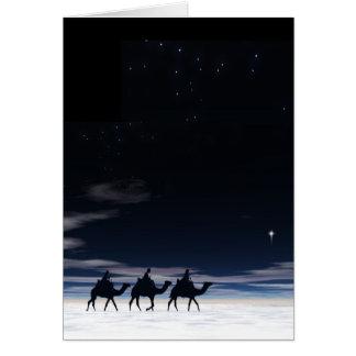 Following Yonder Star. Card