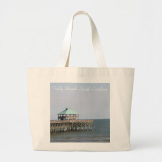 Folly Beach SC, Pier, Charleston, Photography Large Tote Bag