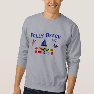 Folly Beach SC Signal Flags Sweatshirt