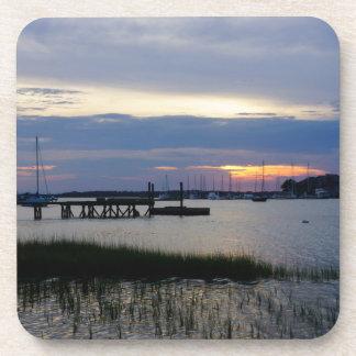 Folly Harbor Sunset Coaster