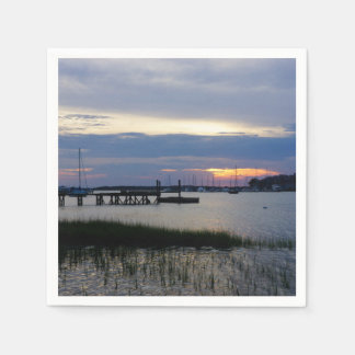 Folly Harbor Sunset Disposable Napkin