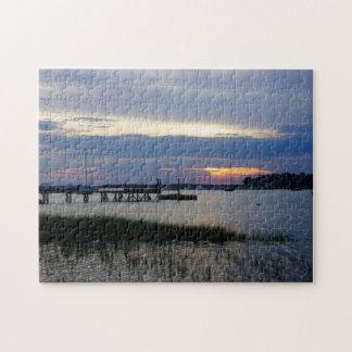 Folly Harbor Sunset Jigsaw Puzzle