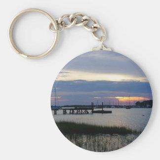 Folly Harbor Sunset Keychain
