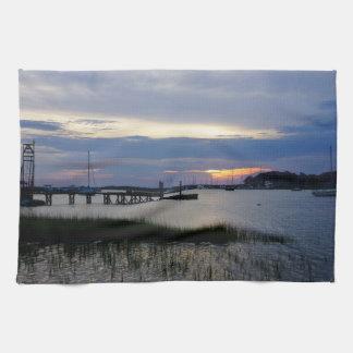 Folly Harbor Sunset Kitchen Towel
