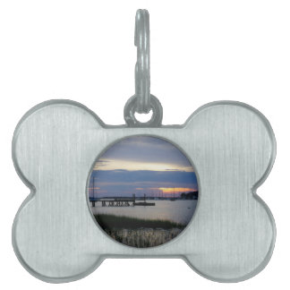 Folly Harbor Sunset Pet Name Tag