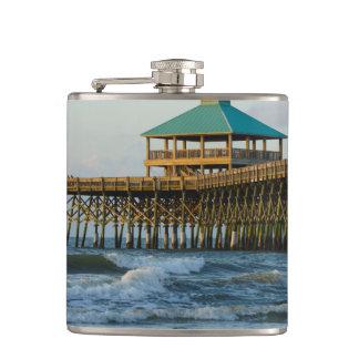 Folly Pier Morning Hip Flask
