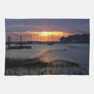 Folly River Sunset Kitchen Towel