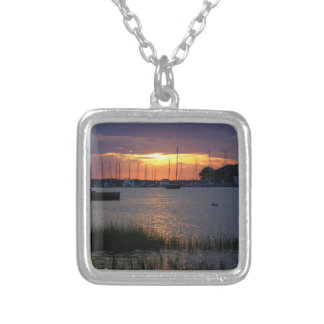 Folly River Sunset Silver Plated Necklace