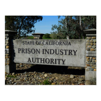 Folsom Icon: Entrance, Prison Industry Authority Postcard