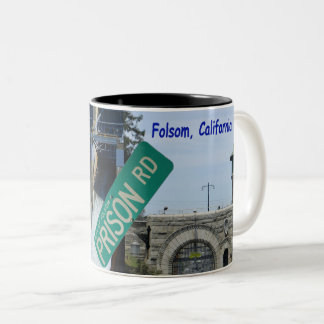 Folsom Icon: Folsom Dam and Prison 1 Two-Tone Coffee Mug
