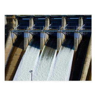 Folsom Icon: Folsom Dam Spillway close-up  (C) Postcard