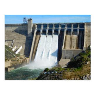 Folsom Icon: Folsom Dam with flood gates open (B) Postcard