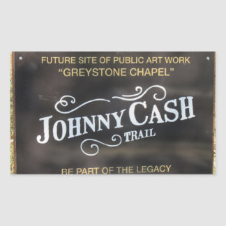 Folsom Icon: Sign on the Johnny Cash Trail Sticker