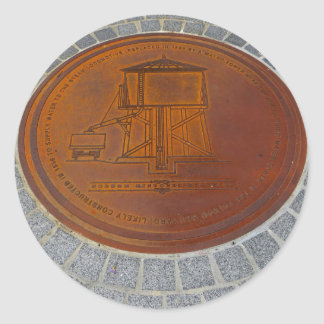 Folsom Icons: Historic Manhole Cover Classic Round Sticker
