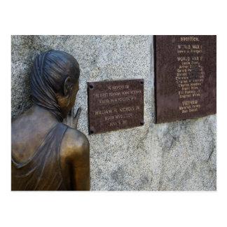 Folsom Icons: War Memorial near City Hall. Postcard