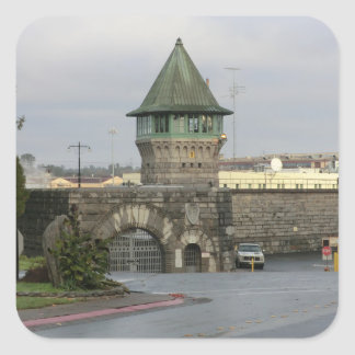 Folsom Prison Main (East) Gate Square Sticker