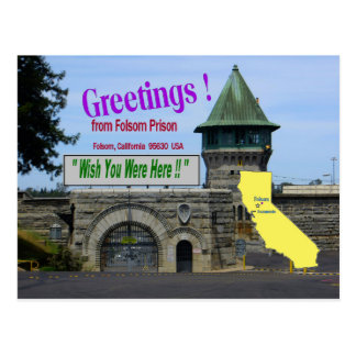 "Folsom Prison ""Wish You Were Here"" postcard"