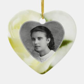 Fond Remembrance Ceramic Heart Ornament