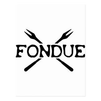 fondue icon postcard