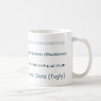 Font Classes Mug
