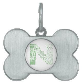 Font Fashion N Pet ID Tags