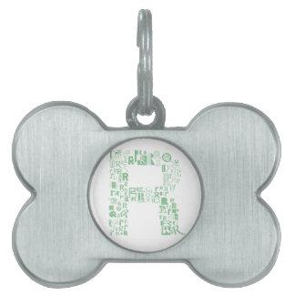 Font Fashion R Pet ID Tags