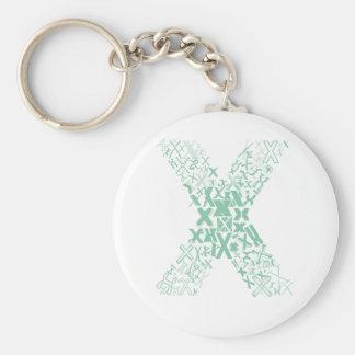 Font Fashion X Keychain