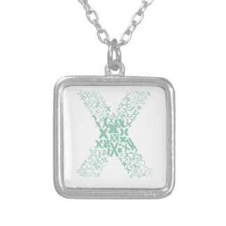 Font Fashion X Silver Plated Necklace