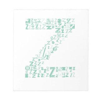 Font Fashion Z Notepad