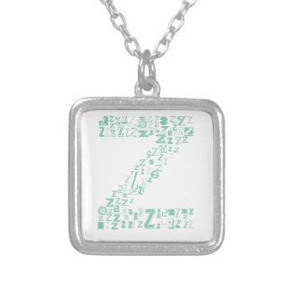 Font Fashion Z Silver Plated Necklace