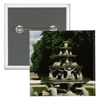 Fontaine de la Pyramide 2 Inch Square Button