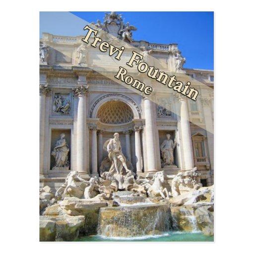 Fontaine Rome Italie de TREVI Carte Postale